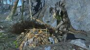 FO4 Good Deathclaw in Museum of Witchcraft