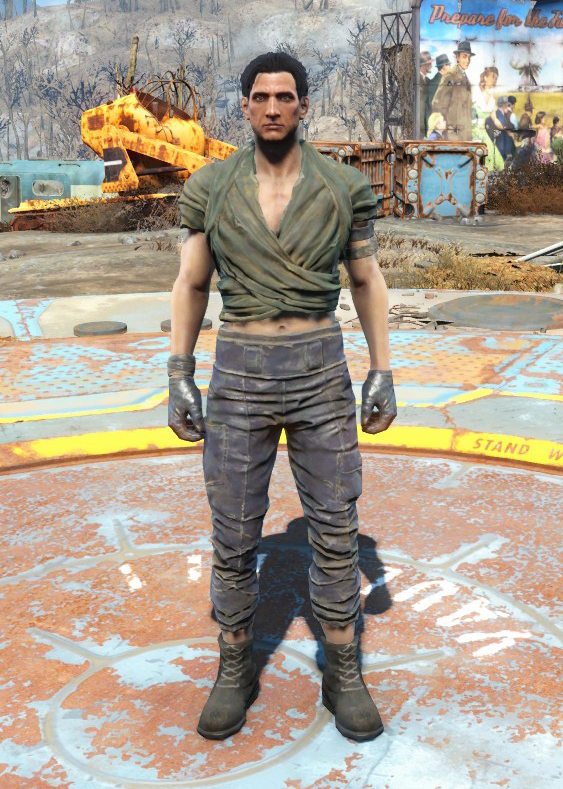 Wrap & ragged pants (Nuka-World)