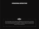 Pip-Boy Operational Instructions