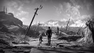 Fallout 4 ending scene Nate and Dogmeat