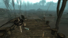 Fo3PL fishing poles flooded sinkhole