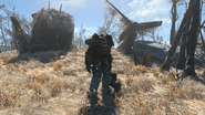 FO4 Power Armor near USAF Satellite Station Olivia