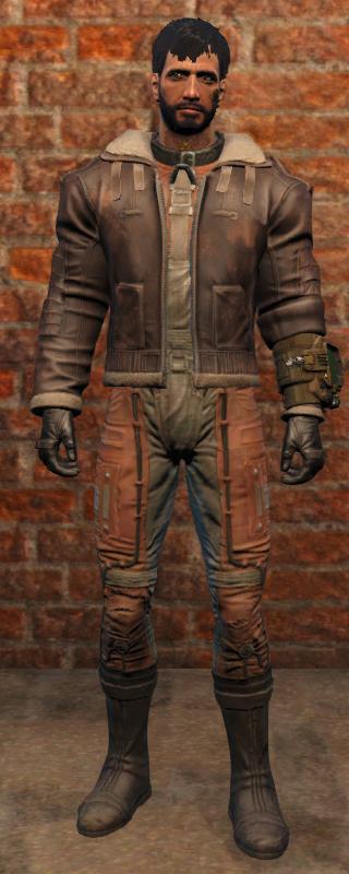 Кожаная куртка пилота