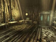 Weston shack interior