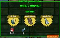 FoS Vault-Tec Experiment Review F rewards