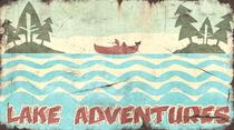 Pioneer Lake Adventures Sign