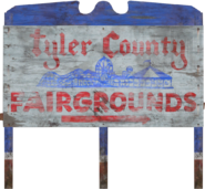 FO76 Tyler County fairgrounds sign