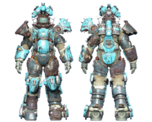 FO4CC Horse power armor cyan