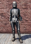 FO76 Halloween Skeleton Costume with Hat