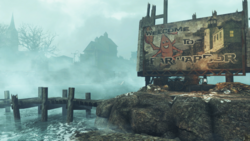 Fallout4 FarHarbor WelcomeSign.png