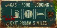 FNV Primm road sign