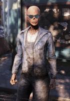 FO76WL Settler ghoul female sunglasses