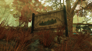 FO76 Berkeley Springs State Park sign