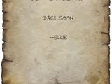Ellie's supply run note