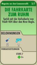 FOS Quest - Info - Die Fahrkarte zum Ruhm - vorne