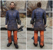 FO76 Skiing navy and orange outfit (male)