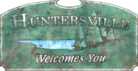 FO76 Huntersville Sign