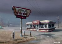 Art of Fallout 4 diner