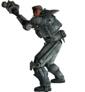 FO3 Star Paladin Cross wielding super sledge