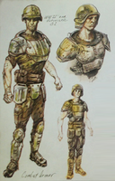 Fo3 Combat Armor Concept Art