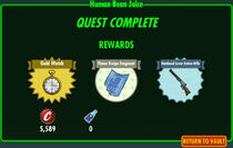 FoS Human Bean Juice rewards