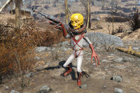FO4 Alien with disintegrator