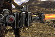 Gatling laser side shot