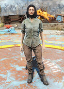 FO4 Green shirt and combat boots female