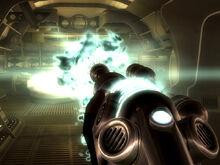 Alien disintegrator back shot
