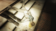 Enclave Corpse in cafeteria