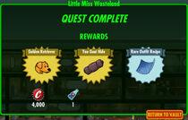 FoS Little Miss Wasteland rewards