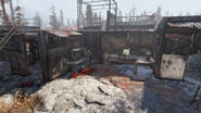 Fo76 Abandoned bog town (Tinker's workbench)