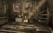 Camp Forlorn Hope mess hall kitchen