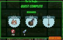 Cat burglar rewards
