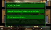 Secret Weapon Test Dialogue