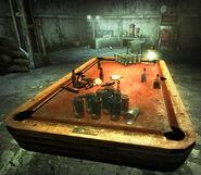 Paradise Falls slaver barracks set up to play beer pong