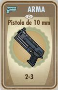 FOS Pistola de 10mm carta