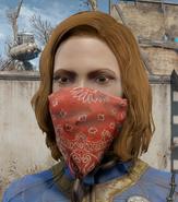 Red bandana worn