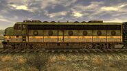 Train engine side