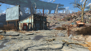 FO4 Rotten Landfill shack and south entrance