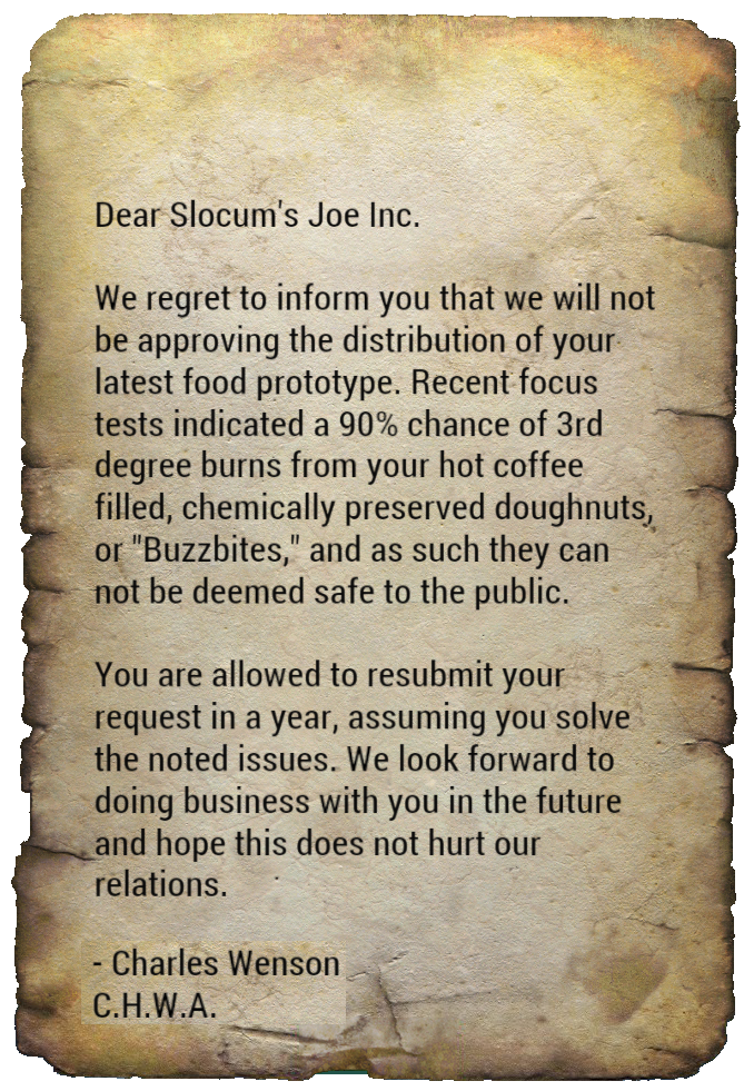 Notice to Slocum's Joe