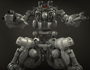 Sentry Bot Inner Detail Render Frontal View