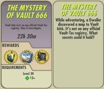 FoS The Mystery of Vault 666 card