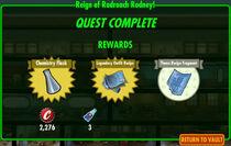 FoS Reign of Radroach Rodney! rewards