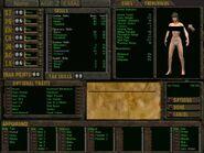 Van Buren female character screen