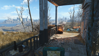 FO4 Coastal Cottage Blue House Patio