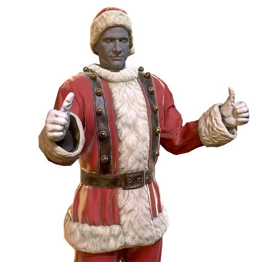Mr. Claus' suit