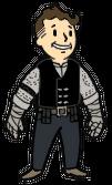 Vault boy con la armadura de Graham