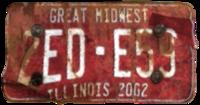 FNV License plate EDE