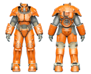 FO4CC X-01 power armor orange